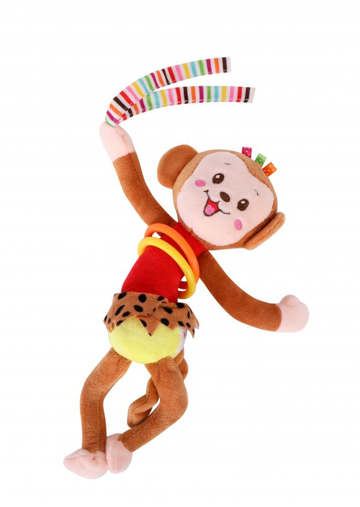 Jucarie Zornaitoare Din Plus Cu Vibratii Monkey 30 Cm