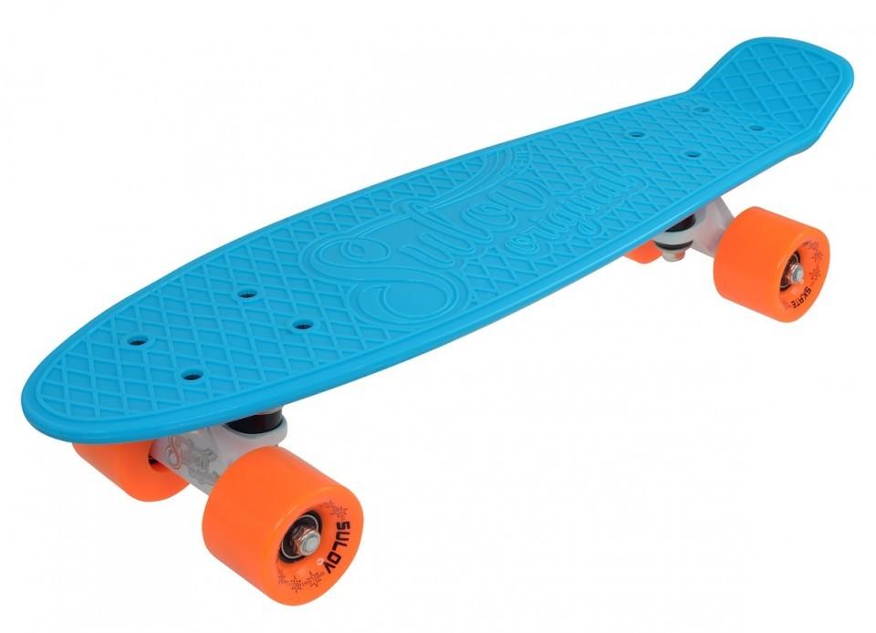 Penny Board SLV Neon 22 Inch BleuPortocaliu imagine