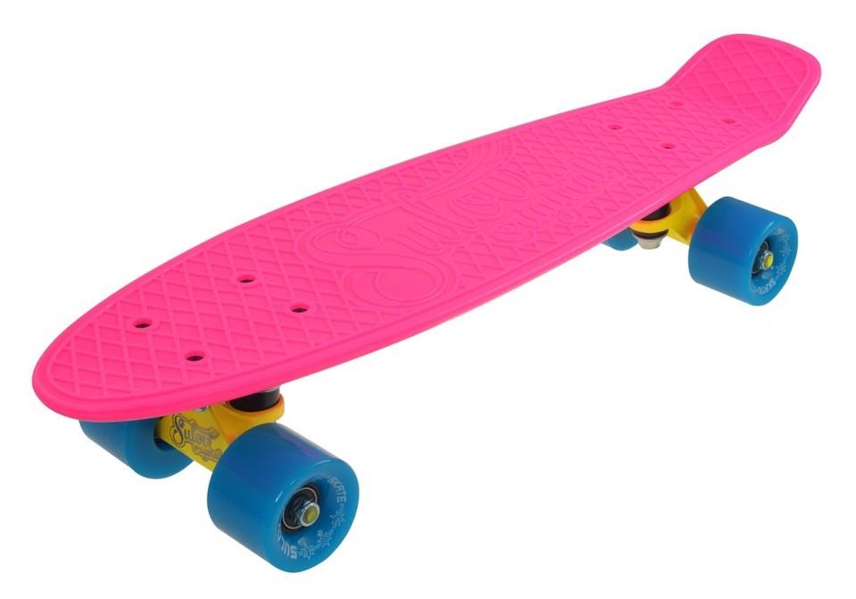 Penny Board SLV Neon 22 Inch RozAlbastru imagine