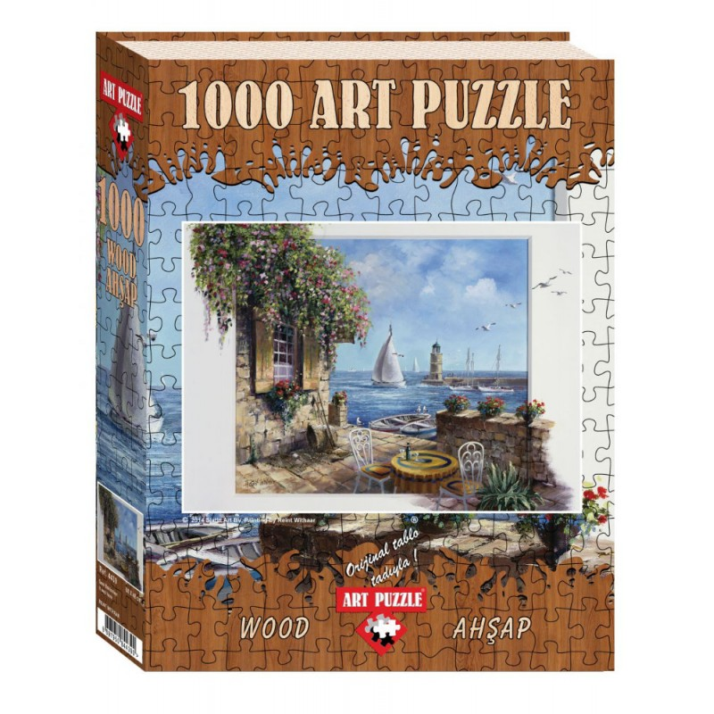 Puzzle 1000 piese din lemn It Was Here Reint Withaar