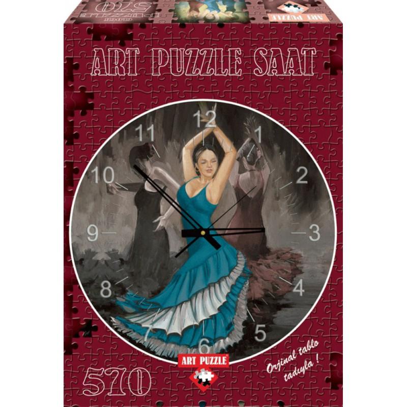Puzzle 570 piese Ceas Flamenco