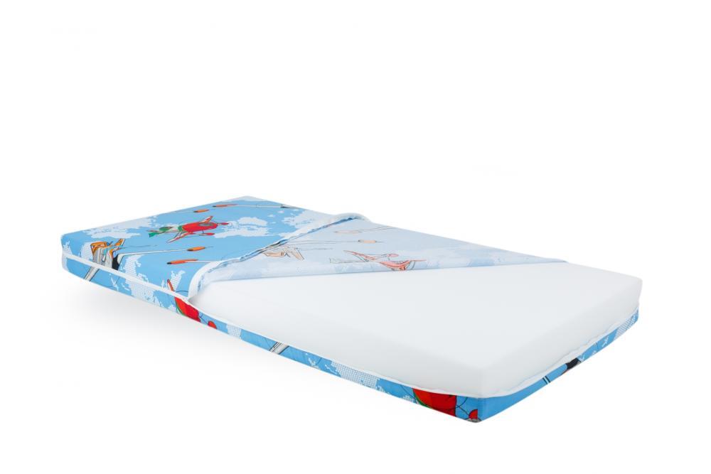 Saltea Pentru Bebelusi Somnart Memory Cu Husa Impermeabila Aviator 120x60x10cm