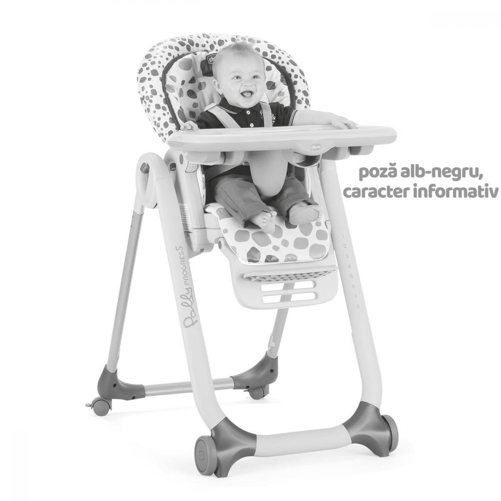 Scaun de masa Chicco Polly Progres 5 in 1 WhiteSnow 0 luni+