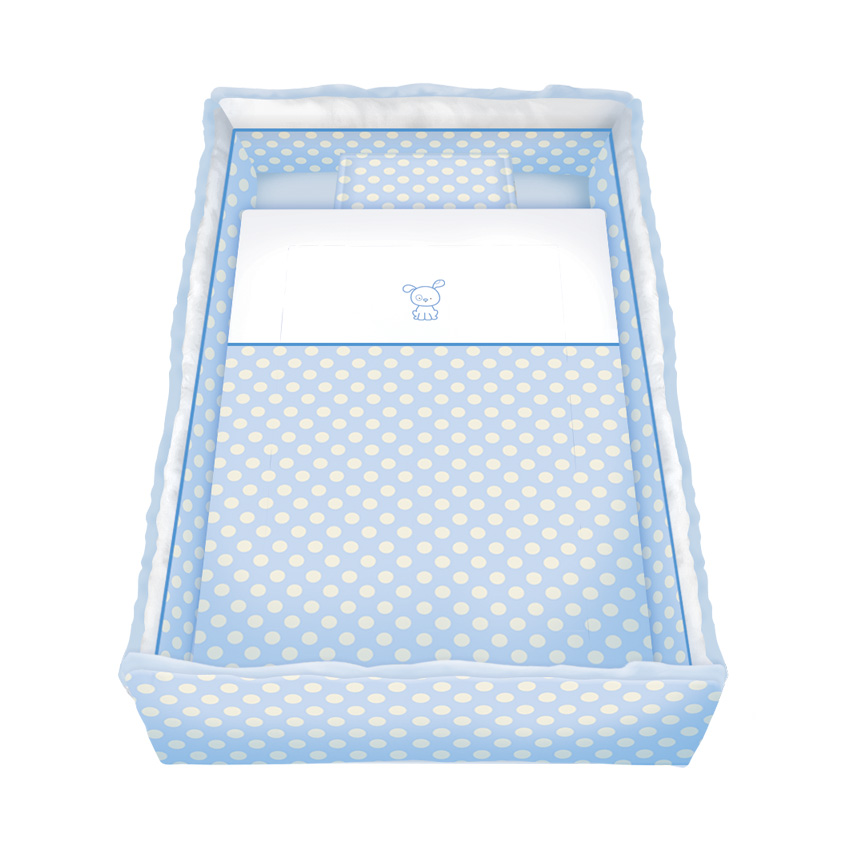 Set Lenjerie Cu Broderie 7 Piese Lily Blue Circles