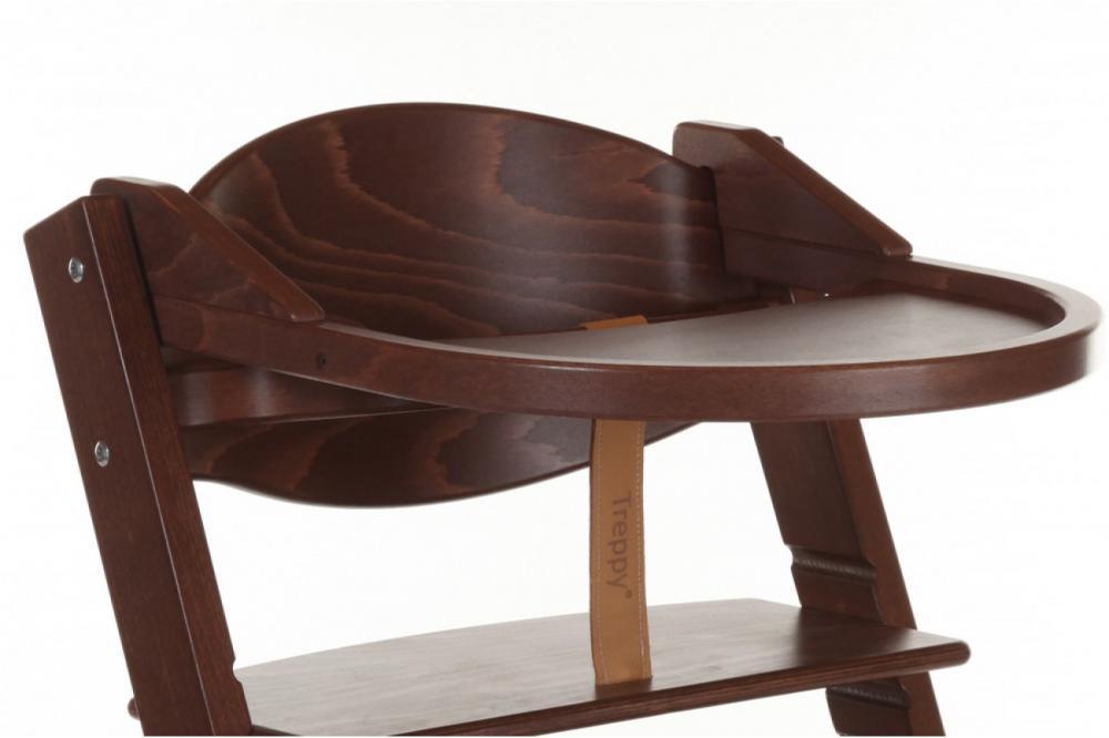Tavita de joaca scaun lemn copii culoare maro nuc Treppy