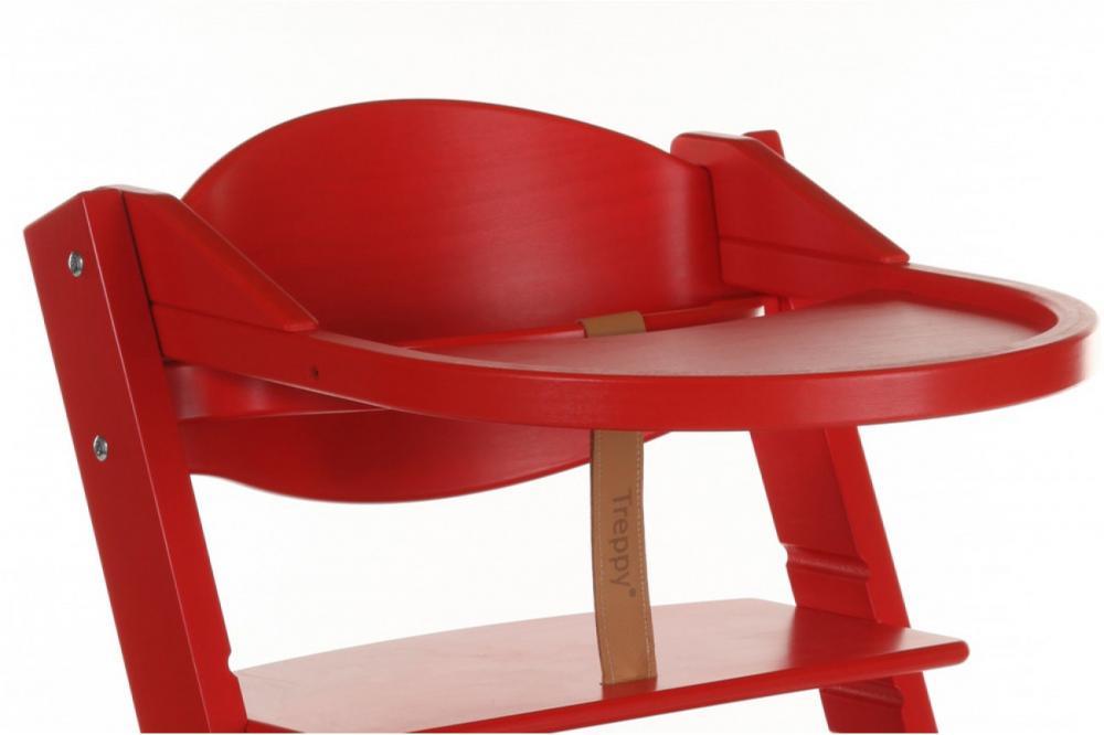 Tavita de joaca scaun lemn copii culoare rosu Treppy