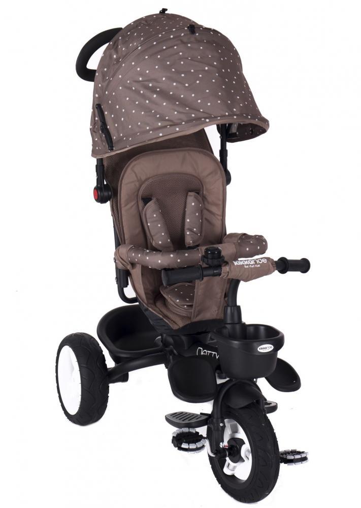 Tricicleta Cu Sezut Reversibil Dotty Brown