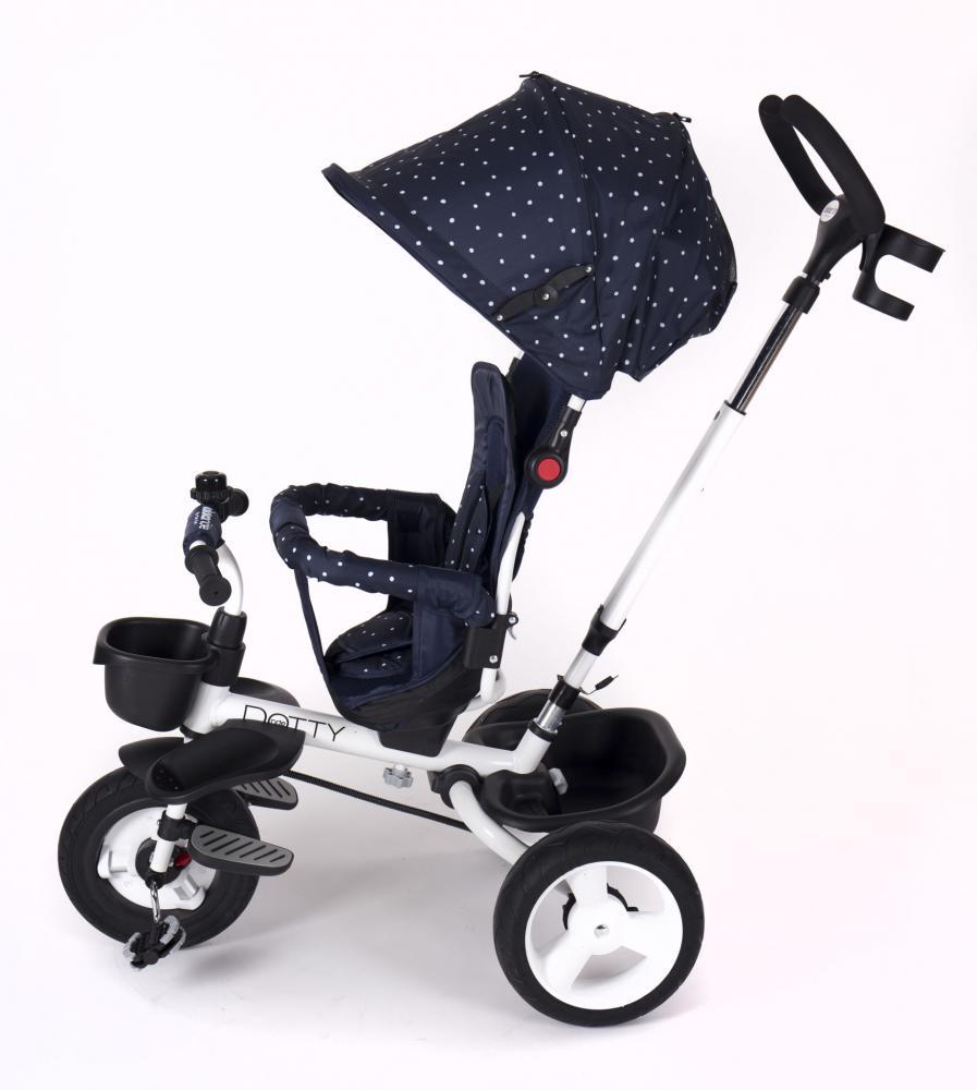 Tricicleta Cu Sezut Reversibil Dotty Dark Blue