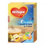 Cereale cu lapte Milupa Vise Placute 7 cereale cu lapte si 4 fructe 250g 6luni+