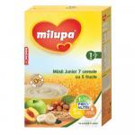 Cereale fara lapte Milupa Musli Jr 7 cereale cu 5 fructe 250g 12luni+