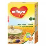 Cereale fara lapte Milupa Musli Jr 7 cereale cu banane si prune 250g 12luni+