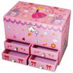 Cutie muzicala cu 4 sertare Fairy Castle