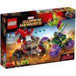 Hulk contra Hulk cel Rosu Lego Marvel Super Heroes