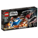 A-Wing contra TIE Silencer Microfighters 75196 Lego Star Wars