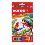 Markere pentru copii Kores Korellos 2 capete 10 culori pe cutie
