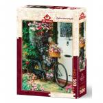 Puzzle 500 piese Bicycle & Flowers
