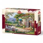 Puzzle 500 piese Spring patio II Sung Kim