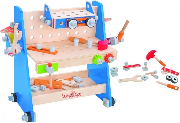 Banc de lucru pentru copii de lemn Globo cu accesorii