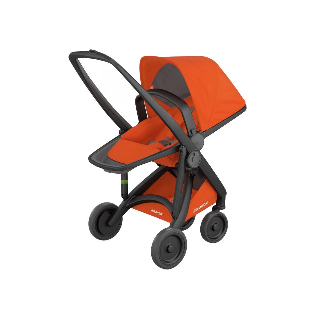 Greentom Carucior Reversible 100 Ecologic Black Orange