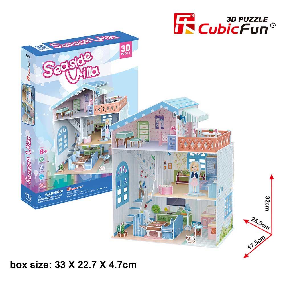 Puzzle 3D Colectia Casuta papusilor Vila de la mare 112 piese