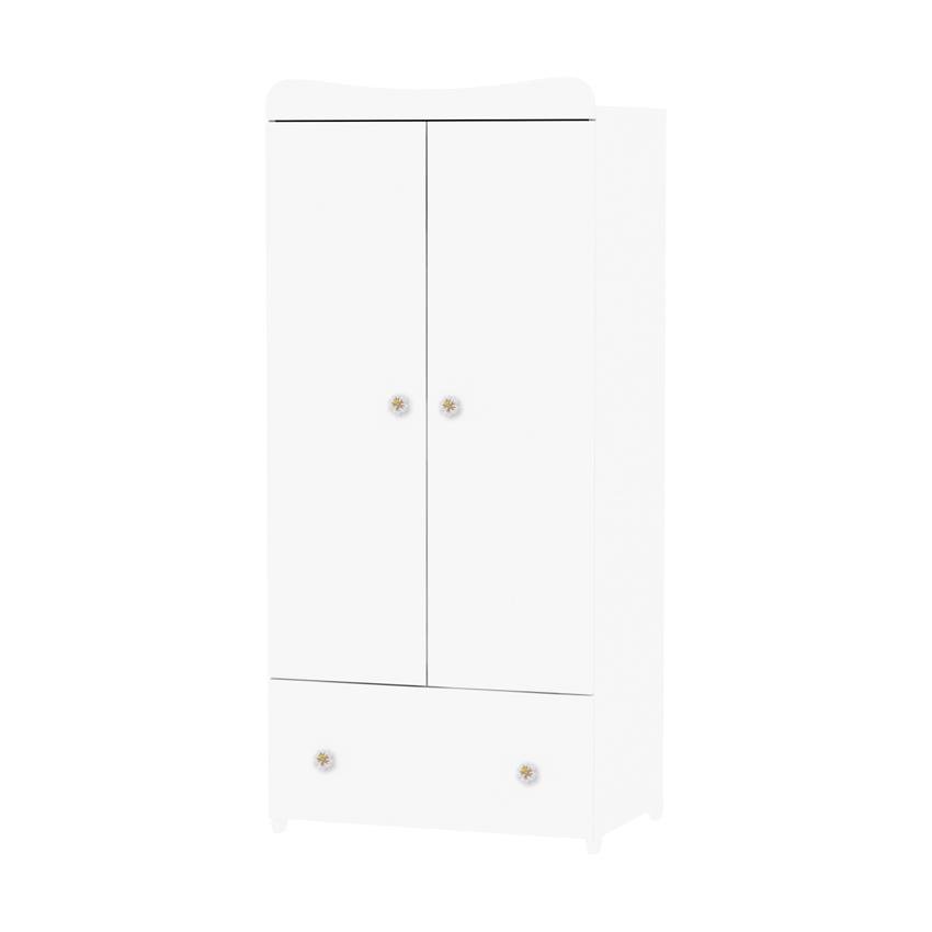 Dulap garderoba 2 usi Exclusive White din categoria Camera copilului de la LORELLI