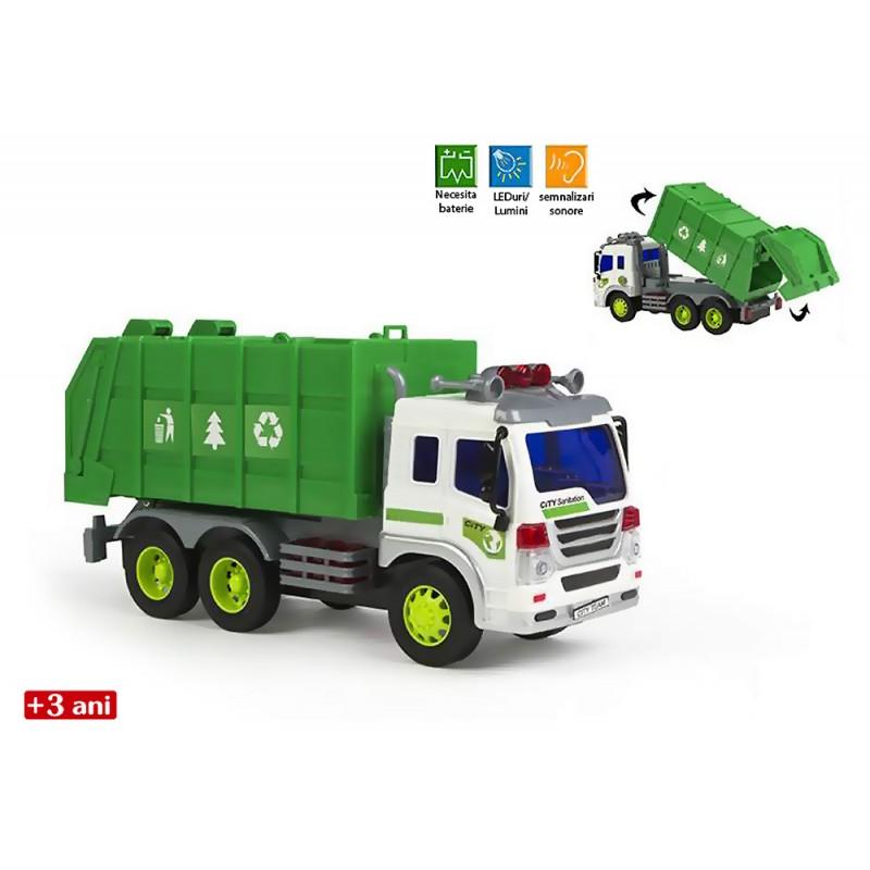 Masina de gunoi cu lumini si sunete