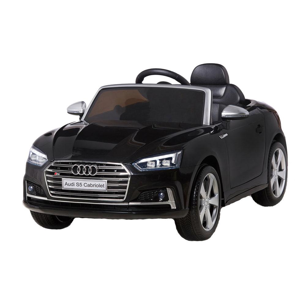 Masinuta electrica cu telecomanda 2,4 G Audi S5 Cabriolet Black
