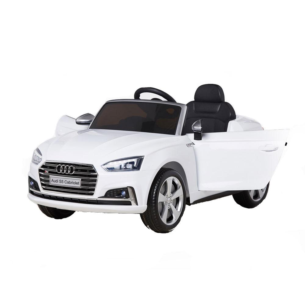 Masinuta electrica cu telecomanda 2,4 G Audi S5 Cabriolet White
