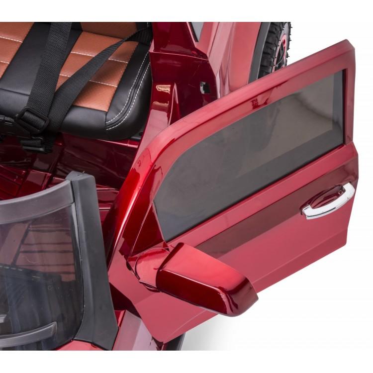 Masinuta Electrica Cu Telecomanda 2.4ghz Invincible Jeep Offroad Red