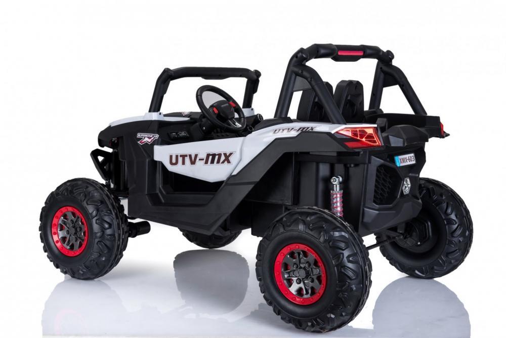 Masinuta electrica cu telecomanda Xtreme Jumper 4x4 UTV-MX White - 1