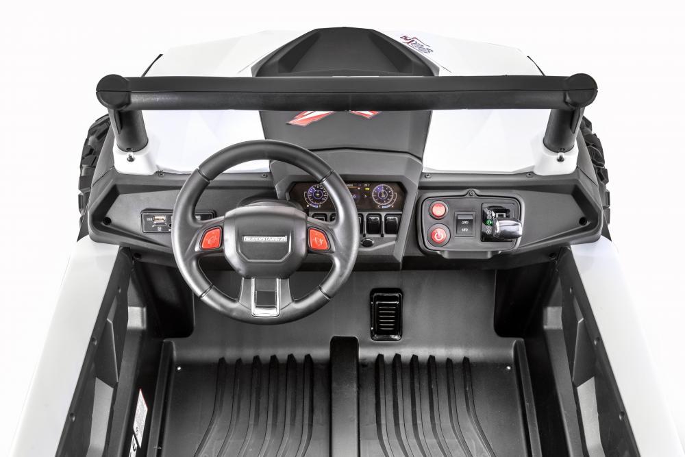 Masinuta electrica cu telecomanda Xtreme Jumper 4x4 UTV-MX White - 7