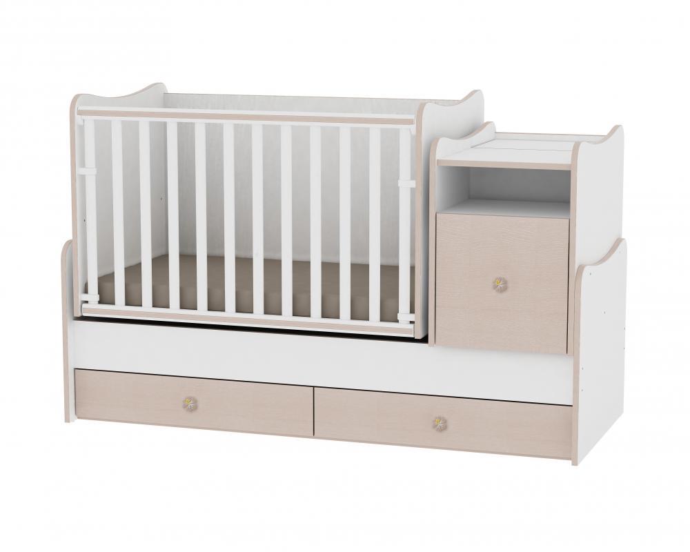 Mobilier transformabil Trend Plus White Oak din categoria Camera copilului de la LORELLI