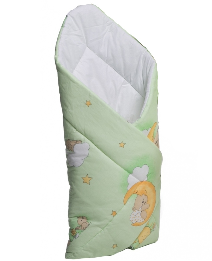 Patura de infasat bebelusi Ursuletul somnoros Verde
