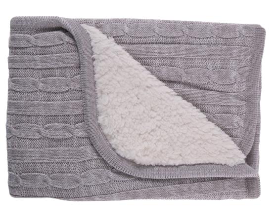 Paturica Cu Doua Fete Blanket Sherpa Grey Melange