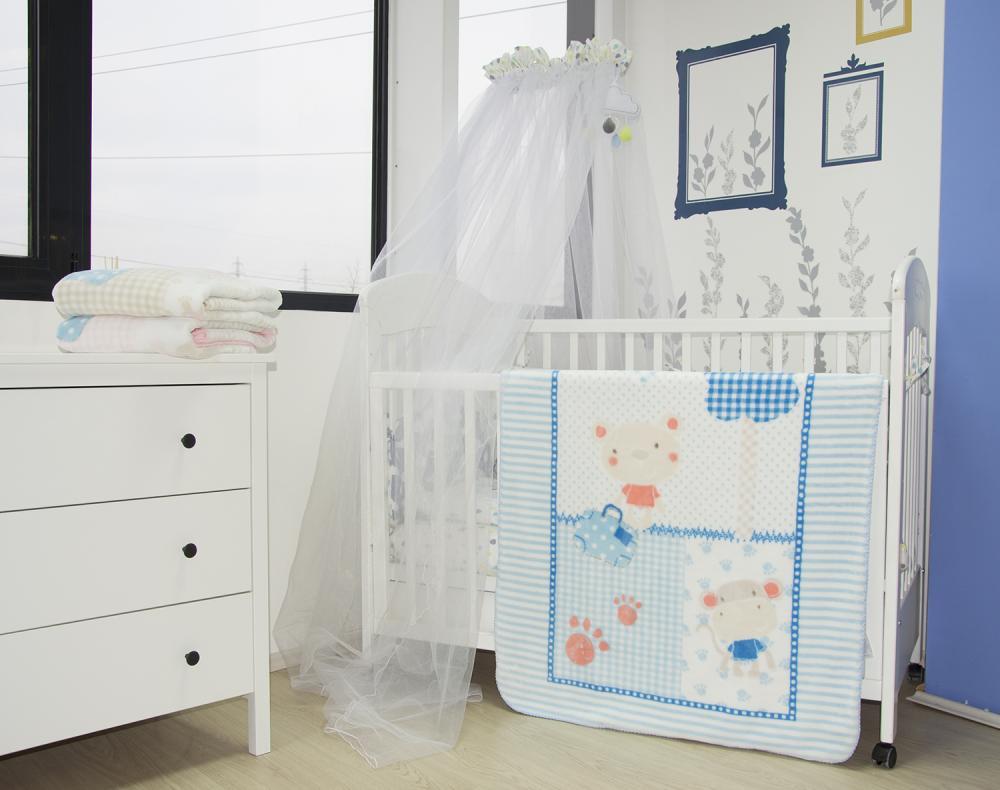 Paturica pentru copii 110x80 cm Fantasia Blue
