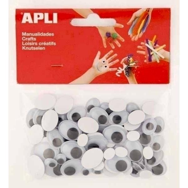 Set ochisori adezivi Apli ovali negru 100 bucati/set