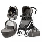 Carucior 3 in 1 Peg Perego Book Plus 51 Black&White Class Grey