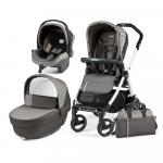 Carucior 3 in 1 Peg Perego Book Plus 51 S Black&White Class Grey