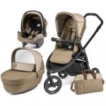 Carucior 3 in 1 Peg Perego Book Scout Matt Black Class Beige