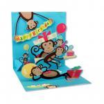 Felicitare 3D Petrecerea maimutelor