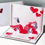 Felicitare 3D stil Origami Scrisoare de dragoste