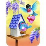 Felicitare Eclectic Blue Birds