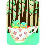Felicitare Eclectic Cup Of Owls
