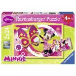 Puzzle O zi cu Minnie 2x24 piese