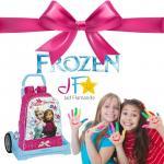 Pachet promotional Ghiozdan Frozen + Troler Evolution Bleu