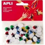 Set ochisori adezivi Apli ovali diverse culori 100 bucati/set