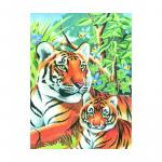 Tablou Coloraza pe numere - Tigru cu pui