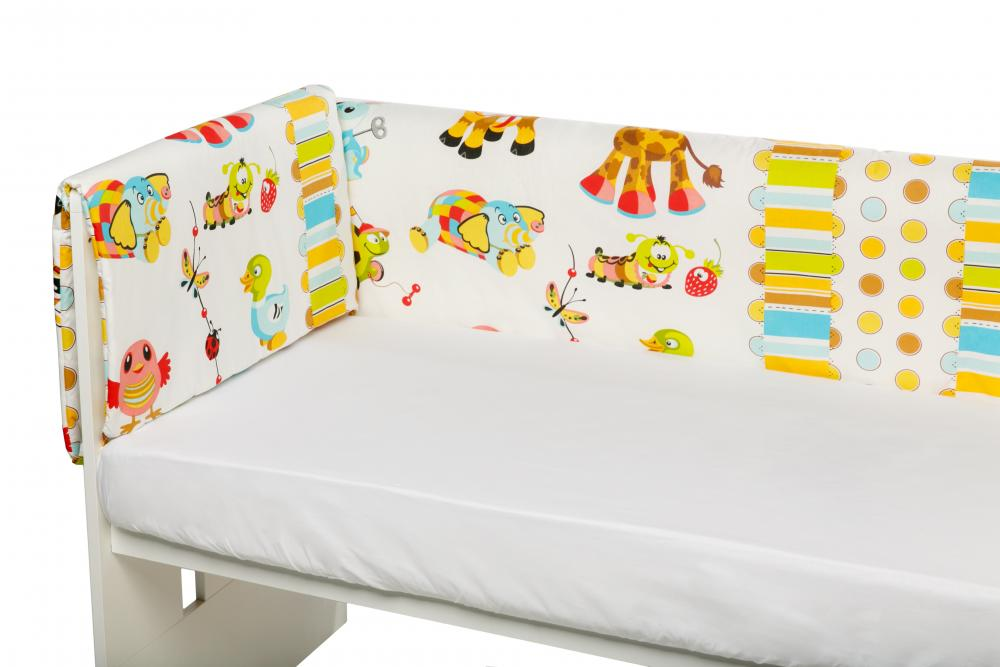 Aparatori Laterale Maxi Pentru Patut Orange Giraffe