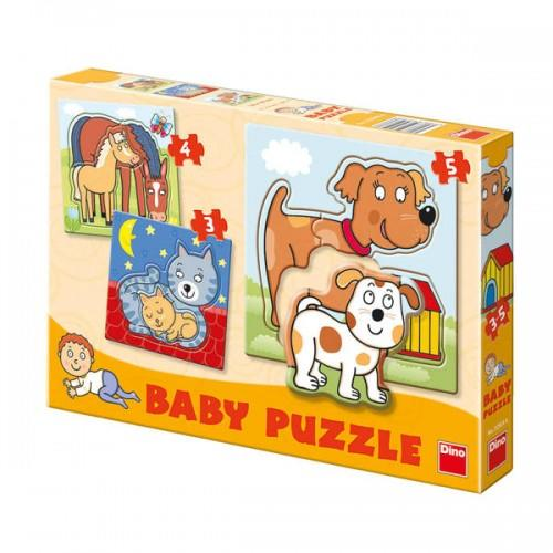 Baby puzzle-uri - Animale (3-5 piese)