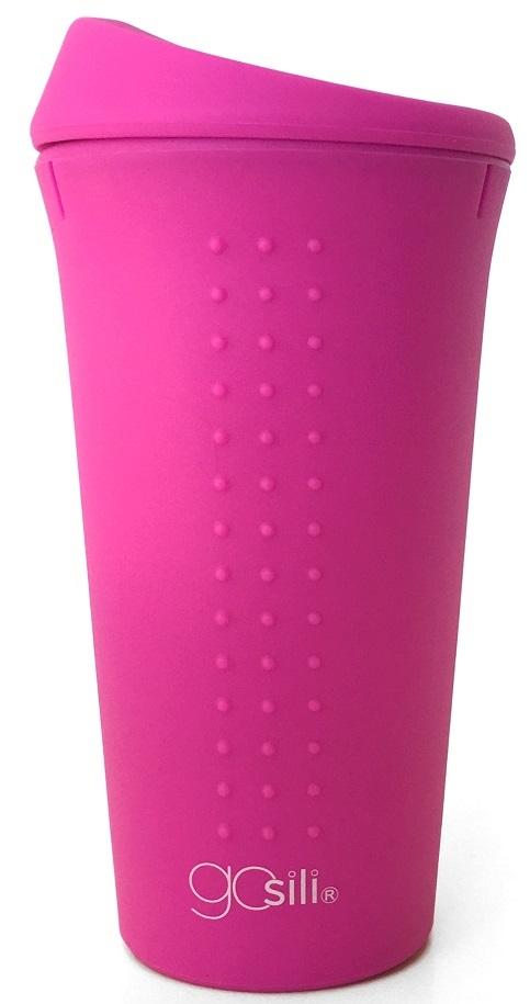 Cana multifunctionala din silicon GoSili Hot Pink